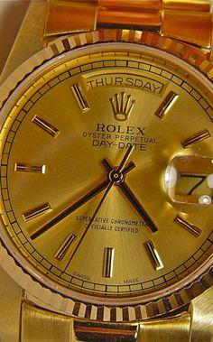 gorgeous gold rolex