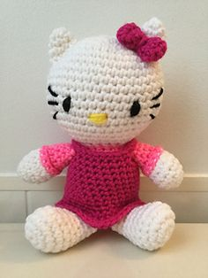 Crochet Amigurumi Hello Kitty Inspired Doll PDF Pattern by Shimmeree Creations on Ravelry
