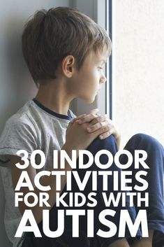 30+ Activities for Kids with Autism | We've got over 30 fun ideas, games, and activities to help develop your child's social skills, speech and communication skills, and gross and fine motor skills, as well as provide him a way to release physical energy and find ways to calm down and self-regulate. Perfect for bad weather days, we've included worksheets, task boxes, and art projects!