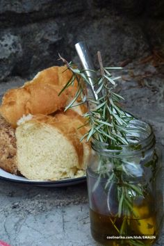Bread and Olive Oil from Island Brac, Croatia