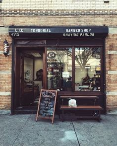 L.I.C. Tonsorial Barber Shop & Shaving Parlor, 41-10 34th Avenue, Long Island City, New York.