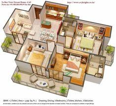 Model House Plan, House Plans Mansion, Sims House Plans, House Layout Plans, Dream House Plans, House Layouts, House Floor Plans, House Floor Design, Modern Bungalow House Design