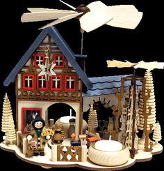 RATAGS Hauspyramide Weihnachtshaus 22cm