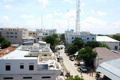 Centro comercial e financeiro de Mogadíscio, capital da Somália.