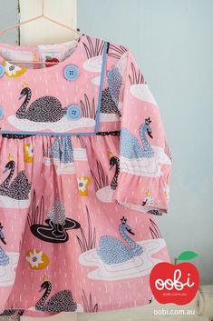 Sage Dress Blush Swan | Girls Party Dress | Oobi Girls Kid Fashion