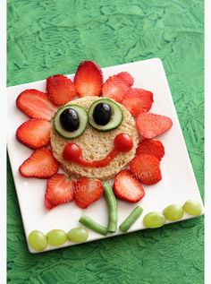 funny food fruity flower