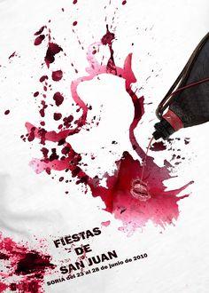 Cartel Fiestas de San Juan 2010. Diseño: Juan Andrés Las Heras García