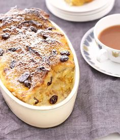 Bread and butter pudding - this is delicious, and the orange rind gives it a lovely flavour