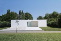 Casa Haras del Sol is a minimalist residence that features a unique interiority and an abstract structure that relates to an artificial landscape