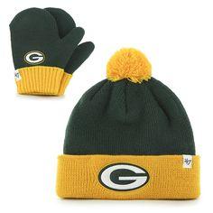 Green Bay Packers Bam Bam Set Dark Green 47 Brand INFANT Hat 3ceb6b282