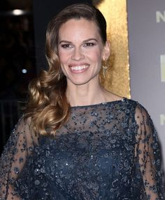 Hilary Swanks cascading curls