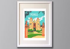Penge A3 Print Royal Waterman's Almshouses South London