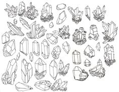 geode crystals drawing - Google Search