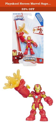 Playskool Heroes Marvel Super Hero Adventures Repulsor Ray Iron Man. Your little hero can imagine saving the day with some of their favorite Marvel Super Hero figures! Sized right for little hands, the Iron Man figure is always ready for an epic adventure. Press the button to launch a repulsor ray projectile from Iron Man's hand! What mission will your little hero imagine next? The adventure is up to them! Marvel products are produced by Hasbro under license from Marvel Characters B.V....