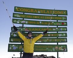 """Thomson Safaris' guest, Jed Morris, said """"I'm not an emotional person, but the experience of reaching the summit made me tear up. Thomson's amazing attention to detail made that possible."""""""