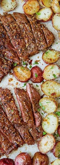 Sheet Pan Steak and Potatoes Recipe — Eatwell101