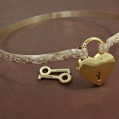 SOFT & SWEET Submissive Locking Day Collar 14k Gold-Filled, Slave Collar, Romantic Floral