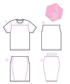 t-shirt till pennkjol :) bra beskrivning
