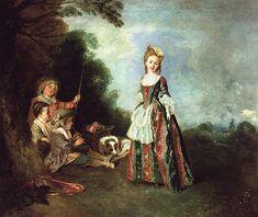 Jean-Antoine Watteau, Iris, c'est de bonne heure, 1719-1720