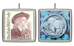 A real buffalo nickle and buffalo Bill stamp. Cool!
