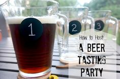 How to Host: A Beer Tasting Party. Forget those wine tasting parties of yesteryear - host a beer tasting party sampling beers from across the globe! Tips for tasty treats too! Beer Tasting Parties, Wine Parties, Backyard Parties, Beer Birthday Party, 30th Birthday, 50th Birthday Quotes, Birthday Images, Tea Party, Birthday Gifts