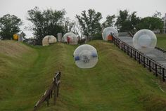 Zorb park in Smoky Mountains in Pigeon Forge, East Tennessee