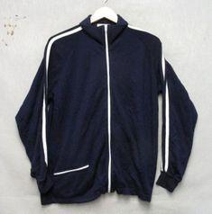 S3502 Jog Joy Blue w/ White Stripe Full Zip Sweater 1 Pocket | eBay