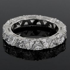 4.50 carat Trillion Cut VVS1 Diamond Eternity Wedding Band Ring 074G #Affinityjewelry #EternityBand
