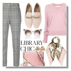 """Library Chic"" by drigomes ❤ liked on Polyvore featuring Veronica Beard, Alexander Wang, Hermès and Thierry Lasry"