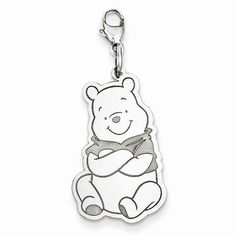 NEW DISNEY COLLECTION STERLING SILVER 925 WINNIE THE POOH LOBSTER CLASP CHARM #DISNEY #Pendant