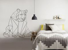 21 Trendy And Eye-Catching Geometric Bedroom Décor Ideas - DigsDigs