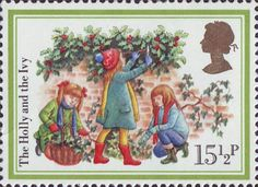 Christmas Carols 15.5p Stamp (1982) 'The Holly and the Ivy'