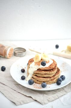 rezept healthy banana oat pancakes bananen hafer pfannkuchen food pinterest pfannkuchen. Black Bedroom Furniture Sets. Home Design Ideas