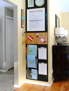 Wand Organizer 9 Ideas to Steal from The Awesome Family Command Centers - Mixed Media Should You Buy Command Center Kitchen, Family Command Center, Command Centers, Organization Station, Kitchen Organization, Organization Hacks, Organizing Ideas, Family Organization Wall, Wand Organizer