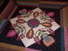 Kim Diehl quilt top I completed.  Hasn't been quilted yet.