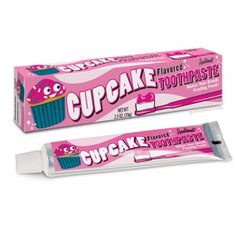 Cupcake flavoured toothpaste, I don't know if this is brilliant or insane.  Maybe both.