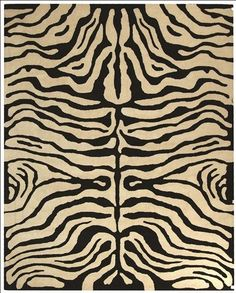 Soho Collection Wool Area Rug in Ivory and Black design by Safavieh