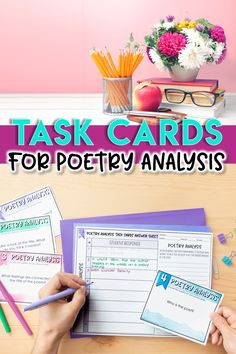 Poetry Analysis Task Cards: Teaching Poetry in the Secondary ELA Classroom