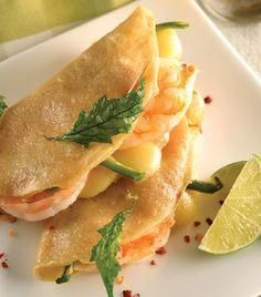 """""""Quesadillas de camarón con queso""""... ¡Sencillas y espectaculares!"""