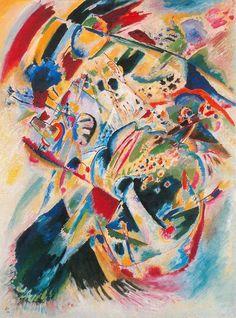 Madame Macabre: Pintura: Wassily Kandinsky.