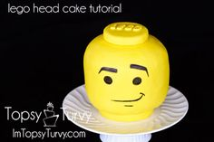 Calling all LEGO fans! These LEGO party ideas are perfect for kids' birthday parties and even baby showers. Lego Head Cake, Ideas Paso A Paso, Birthday Decorations For Men, Lego Birthday Party, Birthday Cakes, Happy Birthday, 9th Birthday, Birthday Ideas, Lego Activities