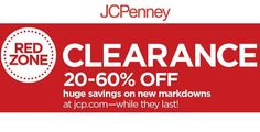 jcpenney clearance sale 60% off coupon - Save 20% to 60% off clearance sale with jcpenney coupons plus you can get 10% to 30% extra if you use jcpenney coupon code and get many other discounts with jcpenney coupons for this holiday season