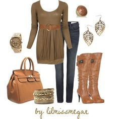autumn browns, created by lilmissmegan on Polyvore