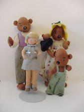 BAPS Von Arps German Storybook cloth felt Doll Goldilocks and the Three Bears