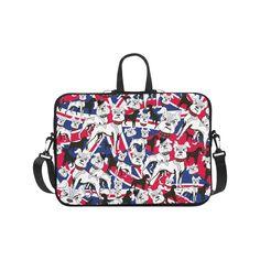 "Print Laptop Case Bulldog London Flag Pop Art Laptop Handbags 17"".Print Laptop Case Bulldog London Flag Pop Art"