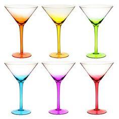 Juego 6 copas cóctel colorama