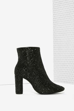 Glitter Bootie #black #glitter #bootie