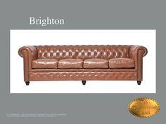 Chesterfield 4 asiento</br>Brighton 4 Vintage Vintage Mocca