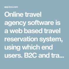 Online travel agency software is a web based travel reservation system, using which end users. B2C and travel agents - B2B can book the travel deals online. Using travel agency software, travel companies are processing flight booking, hotel booking, car booking, transfer booking, sightseeing booking and for several other hospitality related initiatives. Top travel agency software support B2C, B2B, B2B2B, B2B2C and while label modules to cater different type of clients. #online #travel…