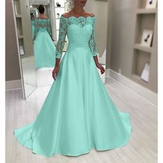New Plus Size Luxury High Quality Women Off Shoulder Long Lace Sleeve Elegant Solid Bridesmaid Wedding Maxi Dress Lace Patchwork Floor Length Princess Evening Party Long Porm Dress Maxi Dress Wedding, Bridesmaid Dresses, Lace Sleeves, Dresses With Sleeves, Sexy Dresses, Evening Dresses, Lace Dress, Evening Party, Movie